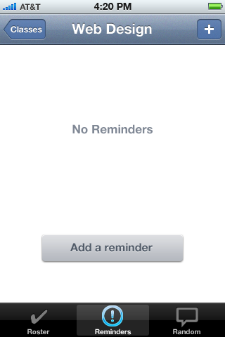 No reminders on the Reminders tab